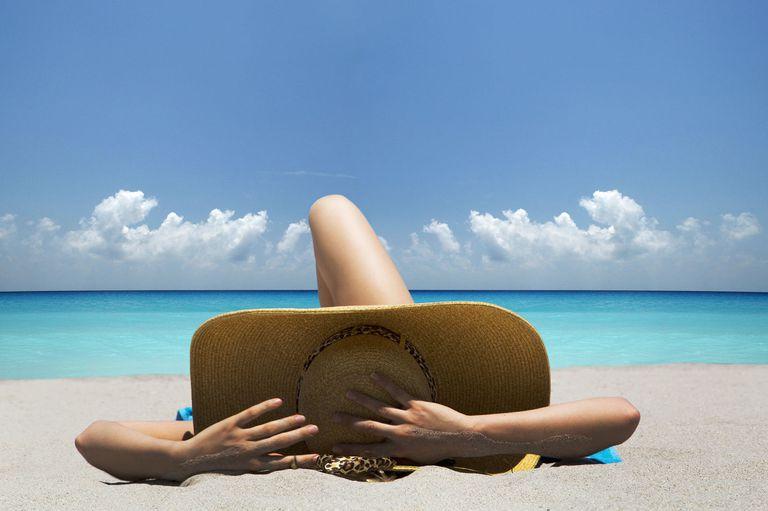 Donna in spiaggia